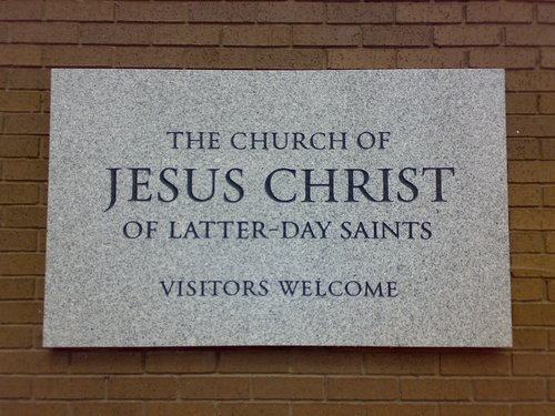 Church of Jesus Christ of Latter-day Saints (Mormon) sign