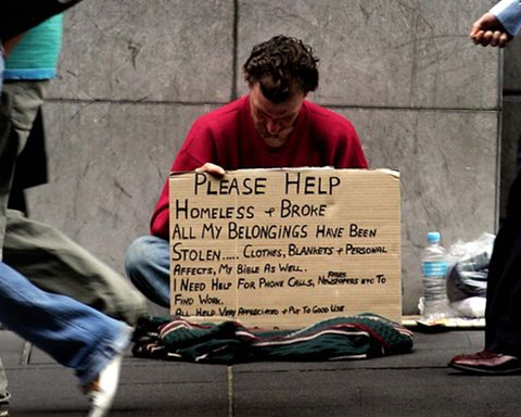 spare change homeless
