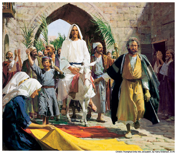 jesus christ triumphal entry passion week mormon