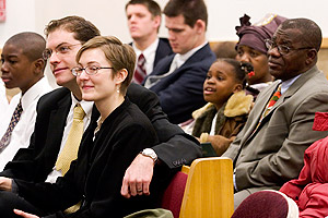 Mormons worship God on Sundays in organized congregations.